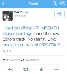 editors tweet