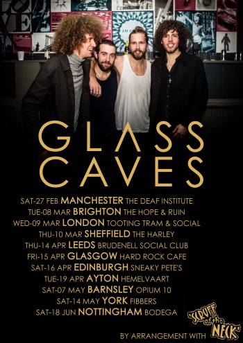 glass caves tour poster